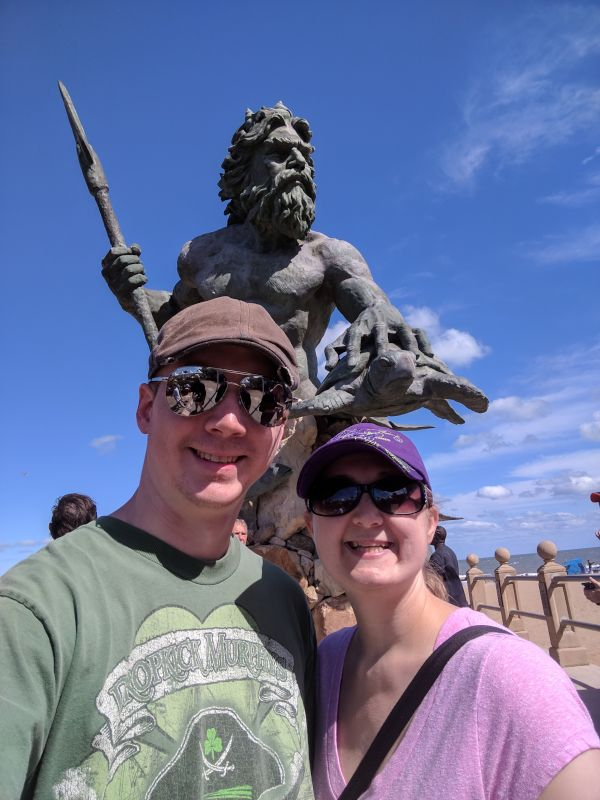 Visiting Neptune at Our Local Beach
