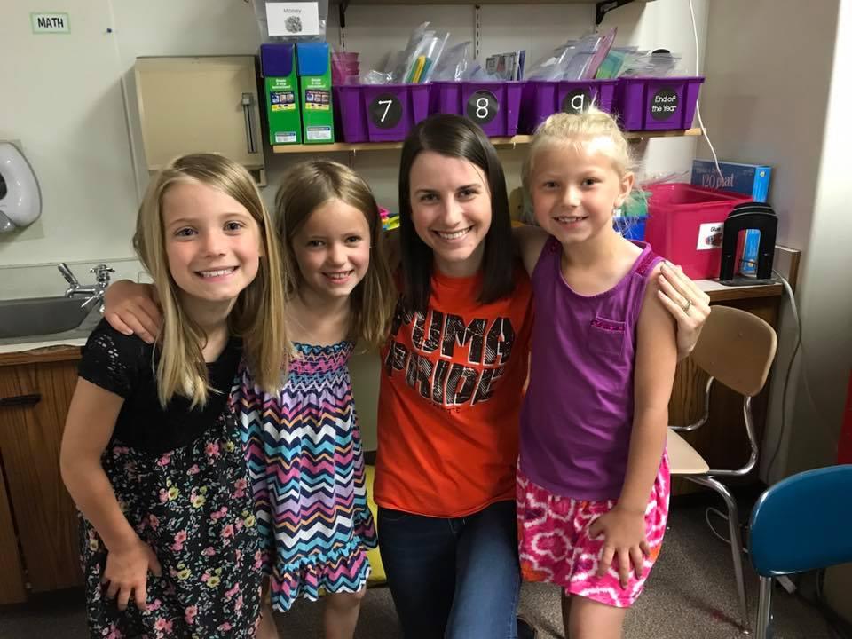 Nicole Volunteering at the Local Elementary School