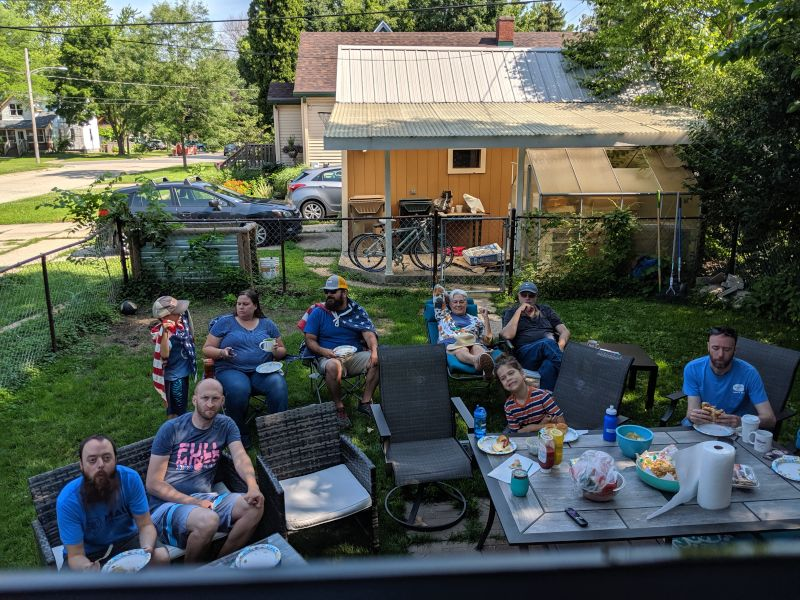 Watching the Women's World Cup With Friends in Our Backyard