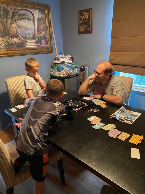 Playing Monopoly With Friends' Kids