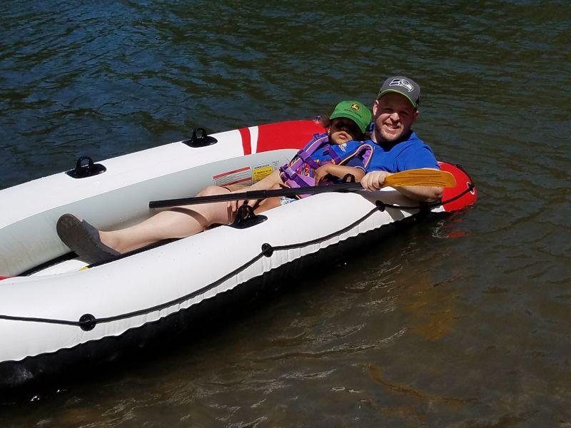 Fun on the Lake With Dad