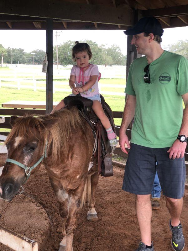 Pony Ride at a Nearby Farm