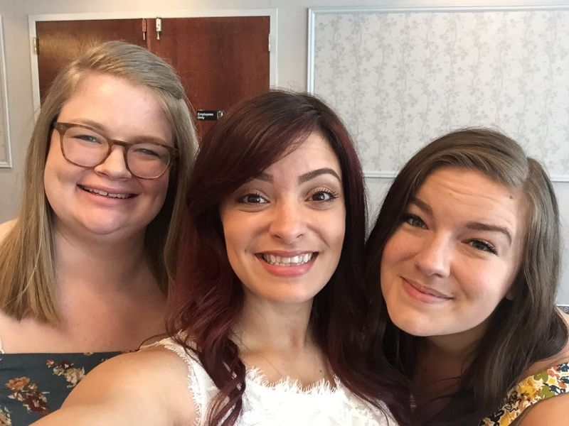 Meghan With Raymond's Sisters