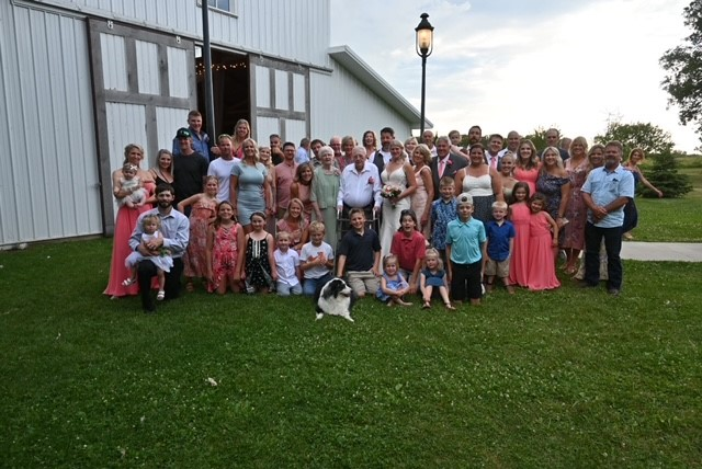 The Entire Family Gathered to Celebrate