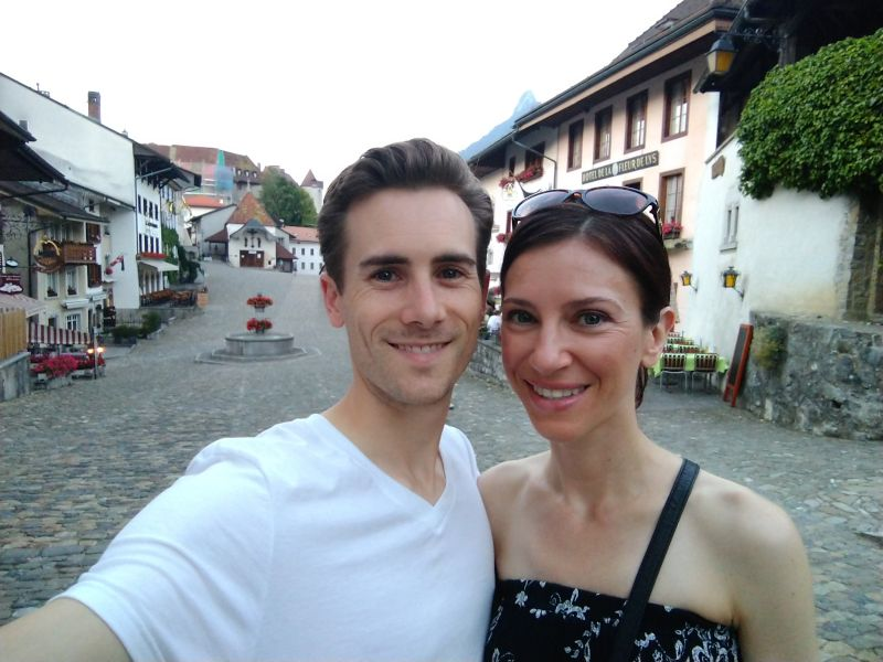 Touring Gruyere, Switzerland