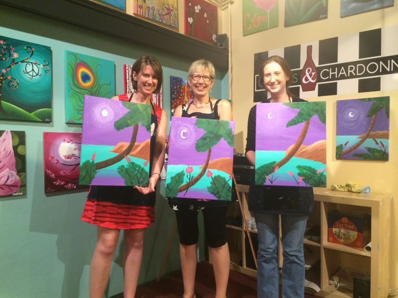 Painting Class With Alison's Mom & Sister