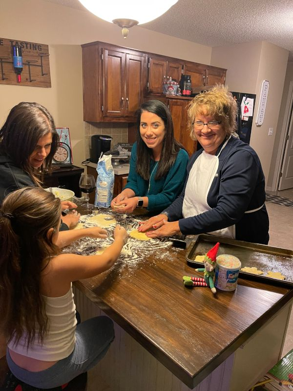 Making Cookies With Family