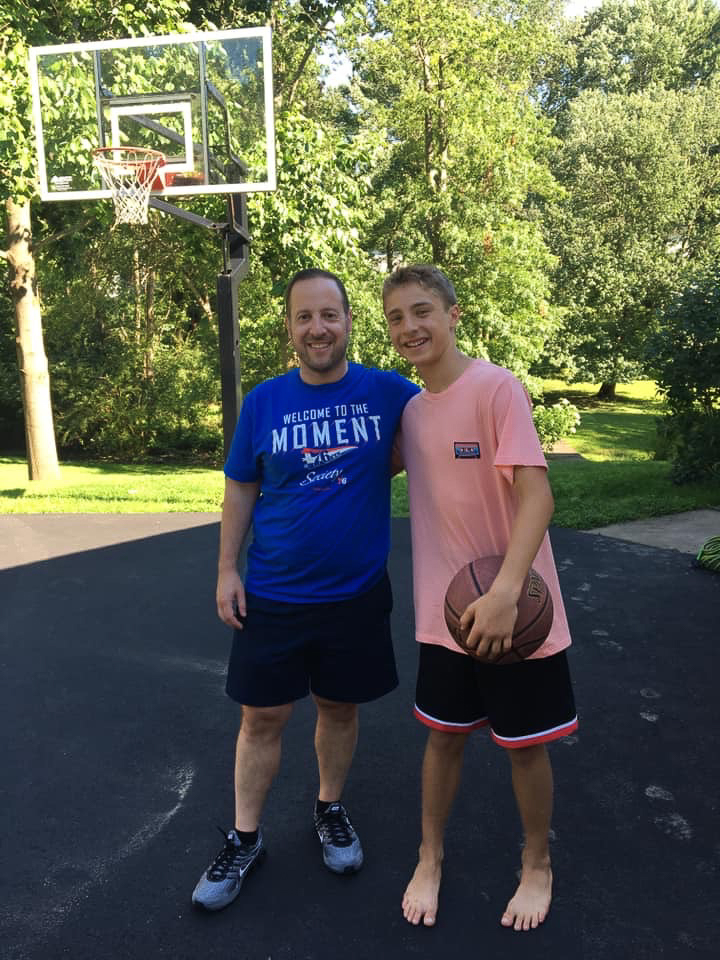 Playing Basketball With Our Nephew