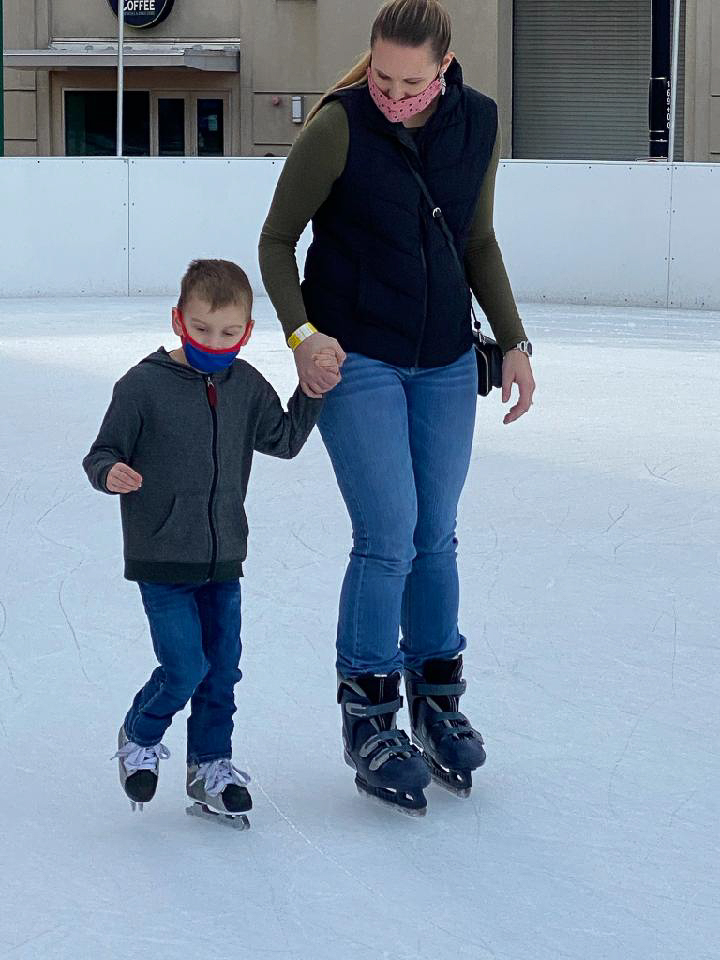 Ice Skating With Stone