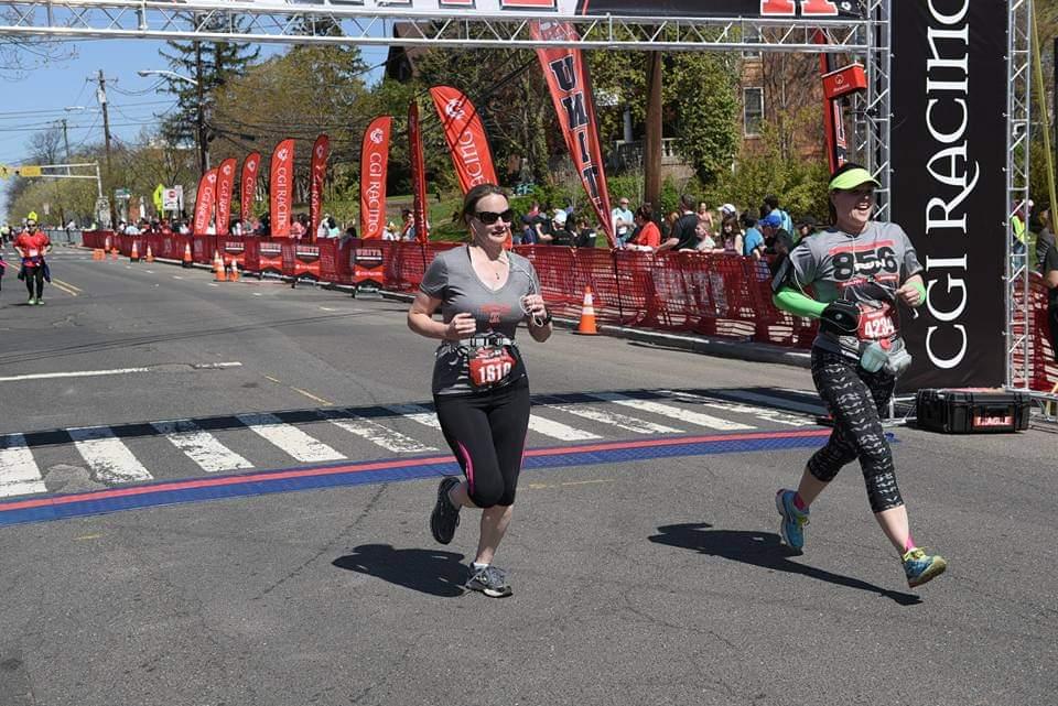 Finishing the Rutgers Half Marathon