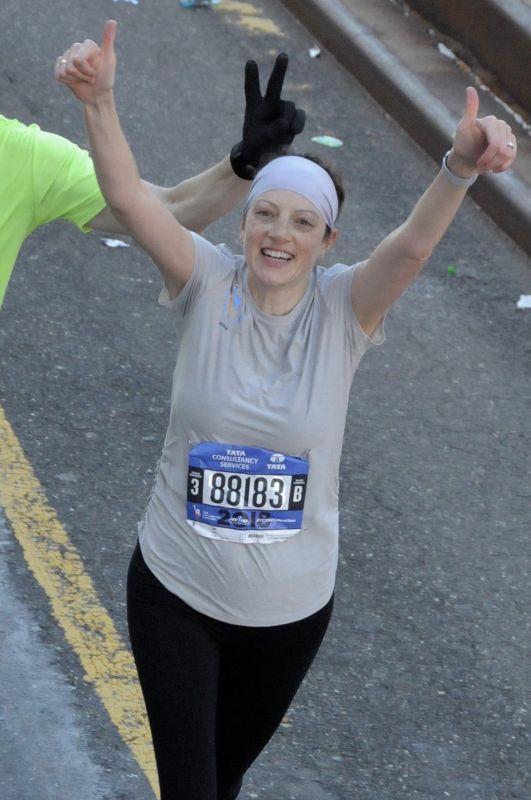 Amy Running the NYC Marathon