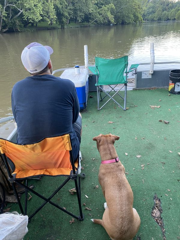 Relaxing On the River With Macy