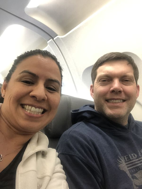 On a Plane to Visit Family in Arizona