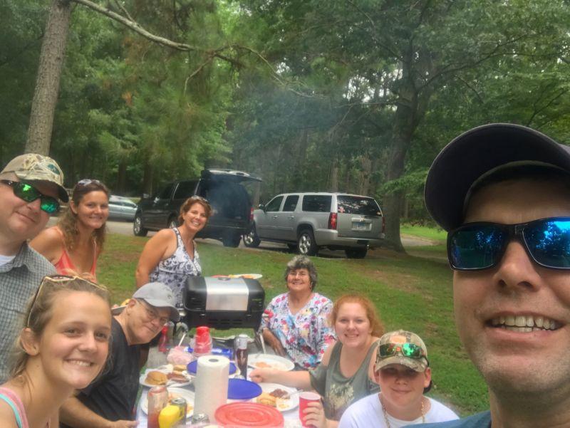 Celebrating a Birthday Picnic with Jason's Family