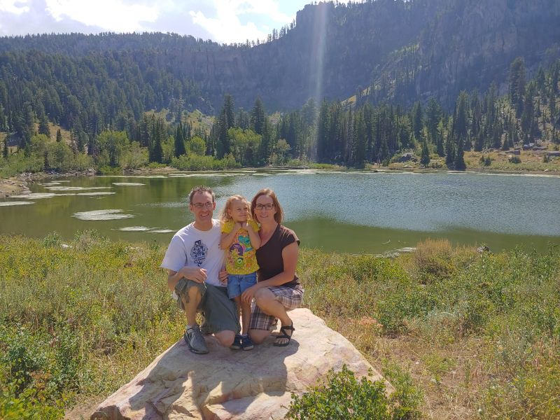 Enjoying the Scenery on a Hike