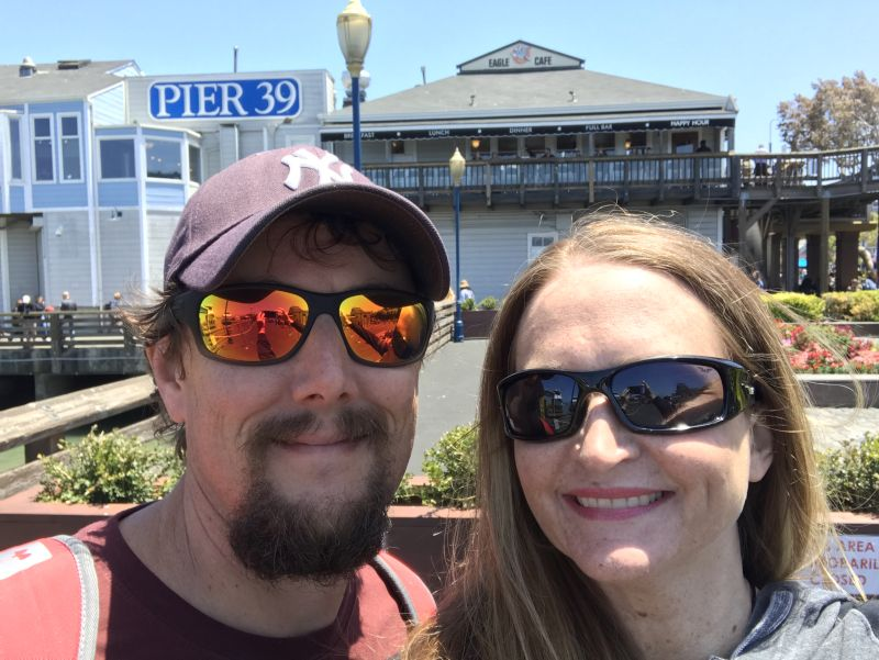 Visiting Pier 39 in San Francisco