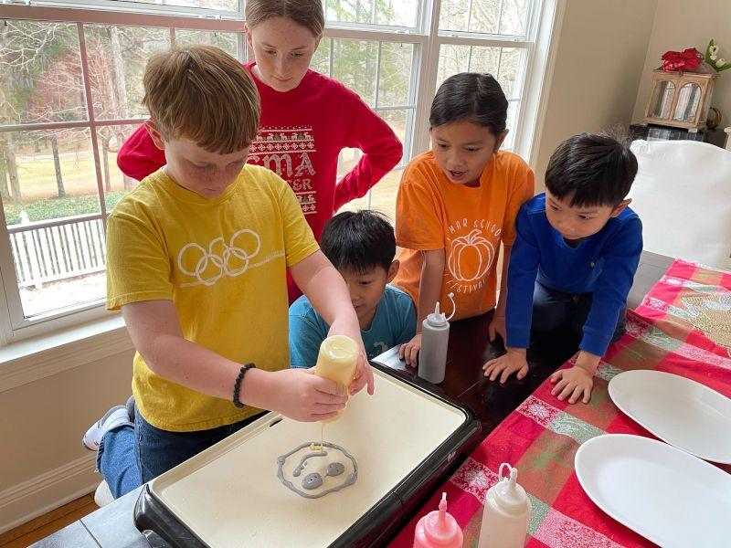 Pancake Art With the Neighbors - Delicious & Fun!