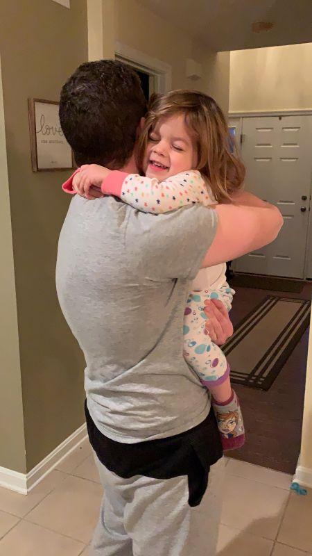 Hugging Daddy