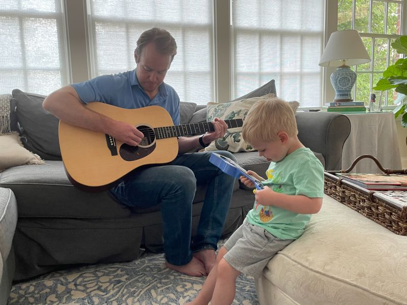 Playing the Guitar with Daddy